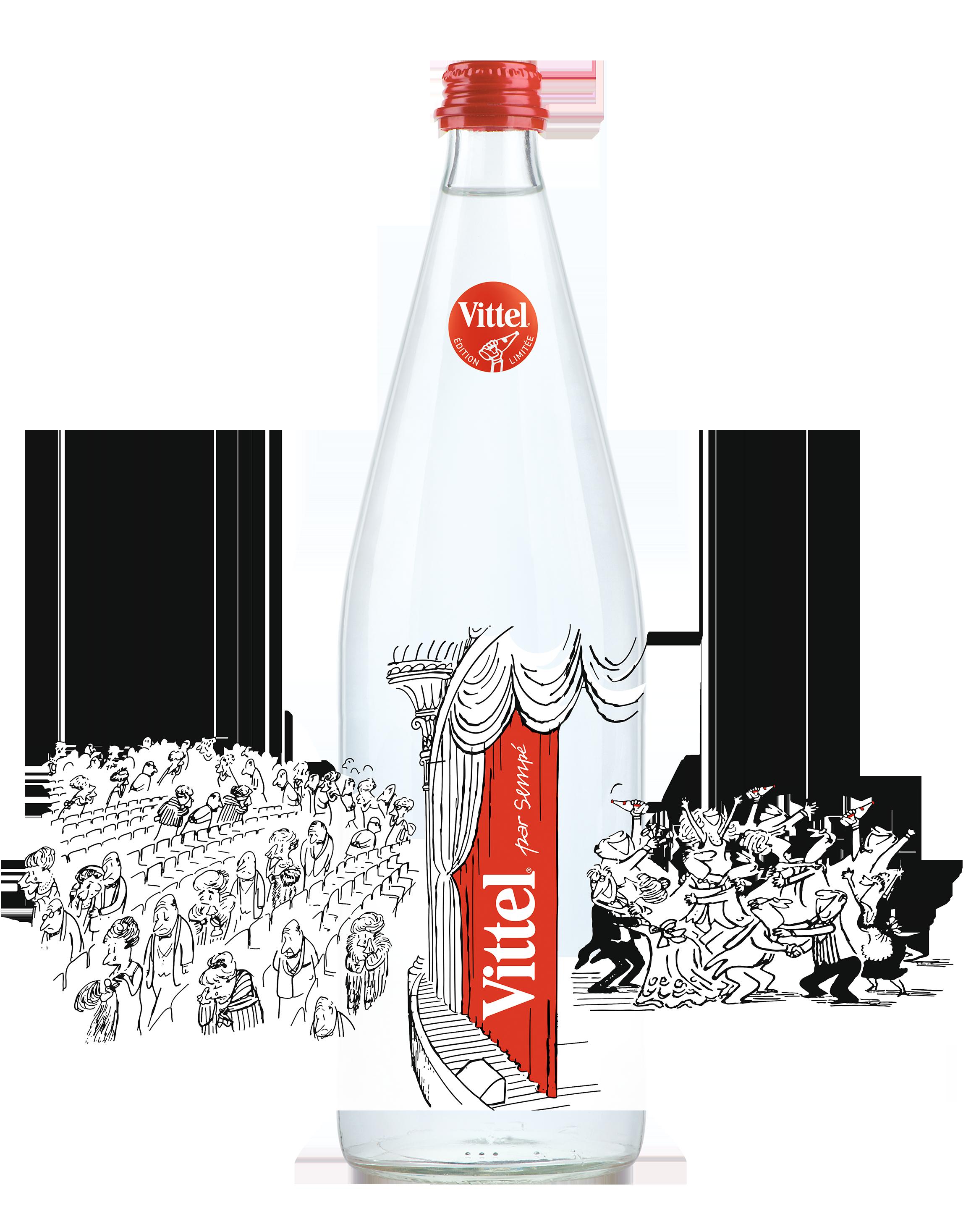 Новое оформление бутылки Vittel